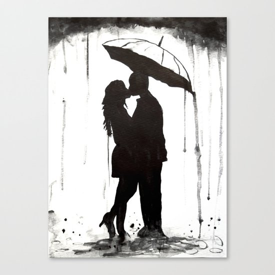 Couple, black and white Canvas Print