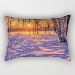view through the pines Rectangular Pillow