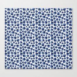 Blueberries Pattern Canvas Print