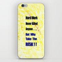 work hard iPhone & iPod Skins featuring Hard Work by Brian Raggatt
