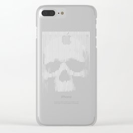 Skull Lines Clear iPhone Case
