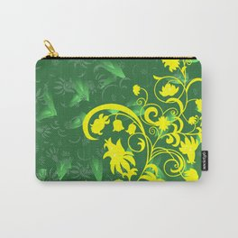 Abstract floral ornament and background Carry-All Pouch