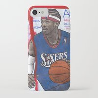 nba iPhone & iPod Cases featuring NBA PLAYERS - Allen Iverson by Ibbanez