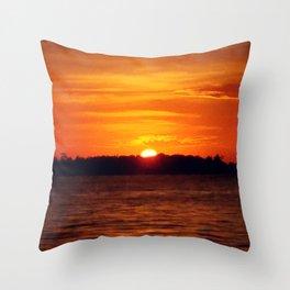 Solar Power | Landscape Nature Photo Throw Pillow