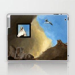 Horse and Child Children's book illustration Laptop & iPad Skin