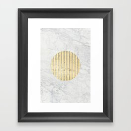 gOld sun Framed Art Print