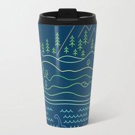Outdoor solitude - line art Travel Mug