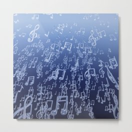 Aquatic Chords Metal Print