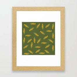Corn pattern Framed Art Print