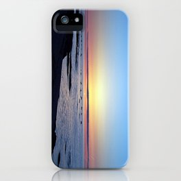 Sun Sets up the River, Across the Sea iPhone Case