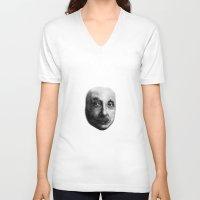 einstein V-neck T-shirts featuring Einstein by OK SO