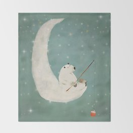 catch a falling star Throw Blanket