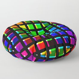 Crossing Color Bars Floor Pillow