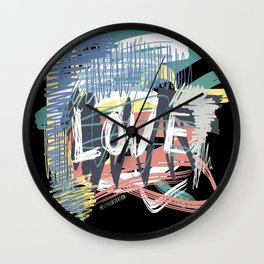 Love Scribble II Wall Clock
