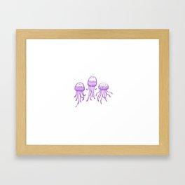 Triple Jelly Trouble  Framed Art Print