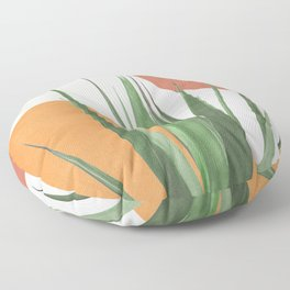 Abstract Agave Plant Floor Pillow