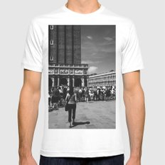 Visiting St Mark's Basilica Mens Fitted Tee White MEDIUM