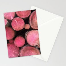 pink woods Stationery Cards