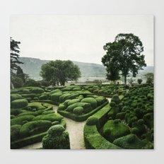 Green Dédale Canvas Print