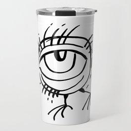 The bird with big eye Travel Mug