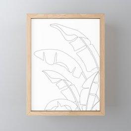 Minimal Line Art Banana Leaves Framed Mini Art Print