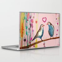 et Laptop & iPad Skins featuring valentine et valentin by sylvie demers