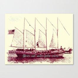 Never sail under false colors Canvas Print
