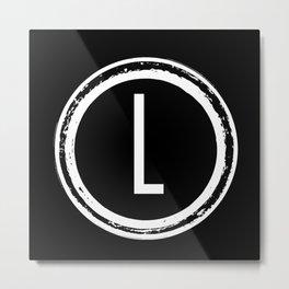 Letter L Monogram Metal Print
