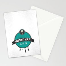 Make Art. All The Time.  Stationery Cards