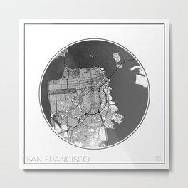 San Francisco Map Universe Metal Print