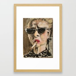 Smoke it Madge Framed Art Print
