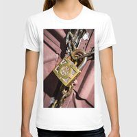doors T-shirts featuring Chained doors by davehare