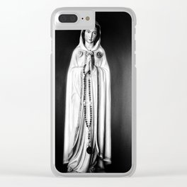 Maria Rosa Mystica Clear iPhone Case