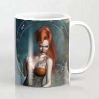 zodiac Mugs featuring Zodiac Scorpio by Britta Glodde