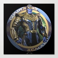 thanos Canvas Prints featuring Thanos - Guardians of the Galaxy by Leamartes