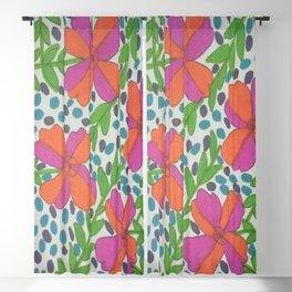 Jungle Rain Flowers Blackout Curtain