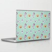 sticker Laptop & iPad Skins featuring sticker monster pattern 1 by freshinkstain