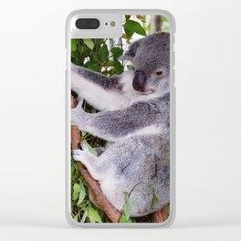 Mr Koala Clear iPhone Case