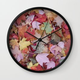 red maple medley Wall Clock