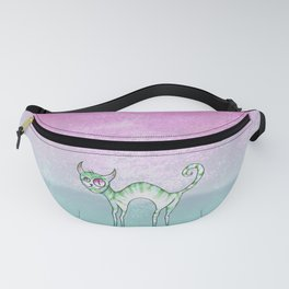 Colored cat Fanny Pack