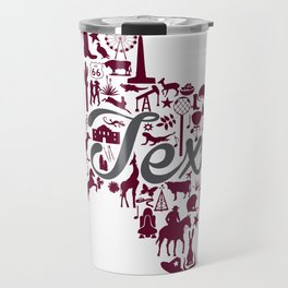 Texas A&M Landmark State - Maroon and Gray Texas A&M Theme Travel Mug