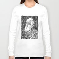 darwin Long Sleeve T-shirts featuring 'Darwin' by Sarah King by We Are West Coast
