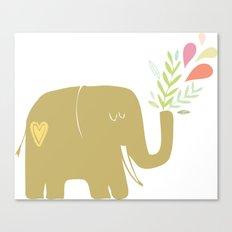 Elephant spouting secrets Canvas Print