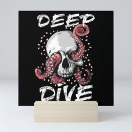 Scuba Diver Skull Octopus Mini Art Print