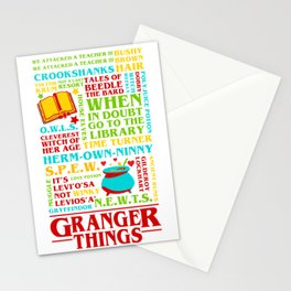 Granger Things Stationery Cards