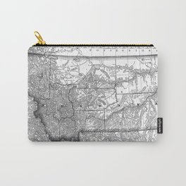Vintage Map of Montana (1881) BW Carry-All Pouch
