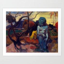 """Paul Gauguin """"Rave te hiti aamu (The Idol)"""" Art Print"""