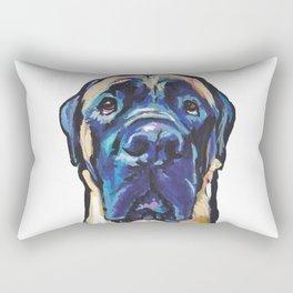 Fun ENGLISH MASTIFF Dog bright colorful Pop Art Painting by LEA Rectangular Pillow