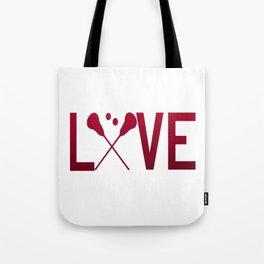 Love Lacrosse Tote Bag