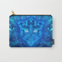 Deep Ice Blue - Sub Zero Transformers Wolf Mask Portait  Carry-All Pouch